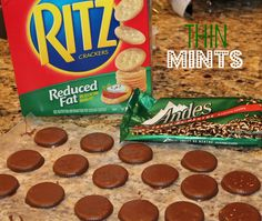 Make Your Own Thin Mints... I was a little hesitant to use Ritz Crackers but the result was delicious!!! Two ingredients--how about that! My husband and kids were impressed.