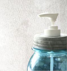 Mason Jar Soap or Lotion Dispenser Pump With Authentic Vintage Zinc Lid - Lid Only, No Jar