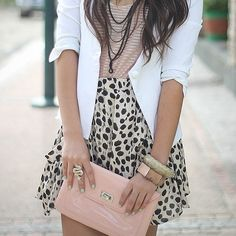 Printed skirts and accessories, create an outfit