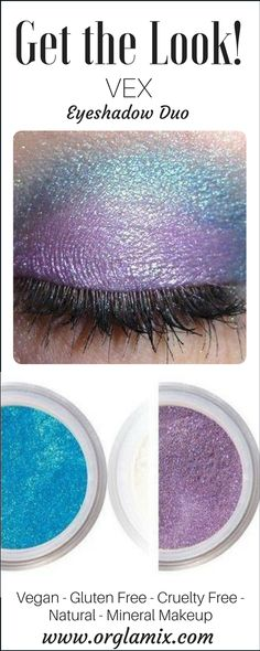 Cool blue and lilac purple blend perfectly with this natural mineral eyeshadow duo collection! Rocking out - one part prep, one part punk, this night time look is the definition of cool. Beauty Tutorials, Beauty Hacks, Beauty Tips, Lilac, Purple, Blue, Beauty Makeup, Eye Makeup, Awesome Definition
