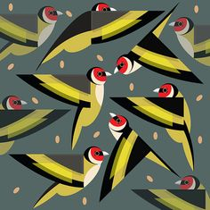 Goldfinch Feeding Frenzy Card...with FREE Mini Card/Gift Tag*