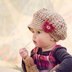 5 Adorable handmade hats for little girls. Perfect present to go under this year's Christmas tree.