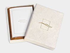Custom Invitation / Custom Packaging / Brass Foil / Handmade Paper Box / This is Ground Leather Passport Wallet / Bliss & Bone