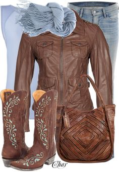 """""""cowboy kickers"""" by thefarm ❤ liked on Polyvore"""