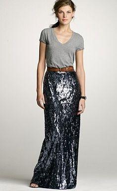 The J. Crew Sequin Long Skirt.