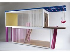 Love this take on a dolls house - and practical features for play too!  Contemporary Dolls House