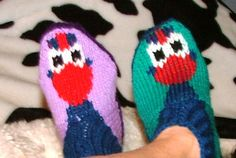 Pukeko Slippers for Adults and the older child by KraftyKiwis