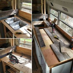 Ways To Choose New Cooking Area Countertops When Kitchen Renovation – Outdoor Kitchen Designs Pallet Countertop, Outdoor Kitchen Countertops, Concrete Countertops, Diy Butcher Block Countertops, Rustic Kitchen, Diy Kitchen, Kitchen Decor, Kitchen Design, Pallet Patio Furniture