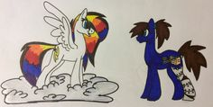 Here is the one with CD. Hope you like it and don't mind that I added my ponysona to your request @BubbaJoFey