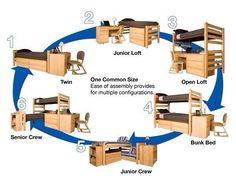The Best College Dorm Room Arrangements - #College, #Dorm, #Student