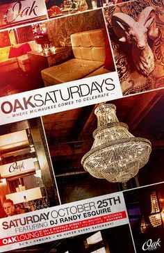 DJ RANDY ESQUIRE IS ON THE DECKS THIS SATURDAY NIGHT AT OAK LOUNGE MILWAUKEE! NO COVER!