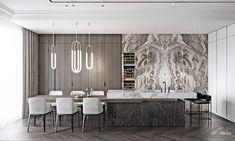 Residential Interior Design, Room Interior Design, Luxury Homes Interior, Luxury Home Decor, Dining Room Design, Kitchen Interior, Furniture Design, Cuisines Design, Modern Kitchen Design