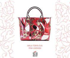 Mala Tom & Eva Pink Varnish, de cor rosa escuro #canvacup