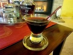 Tonight's cocktail is another riff on one of my favorite drinks – the Manhattan. This twist on the classic could actually be better as it's flavors are deep and reflective. Creat…