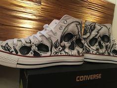 Chucks Shoe Art  Custom painted
