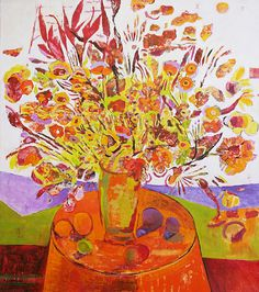 A painting by the Mexican artist Marilo Carral