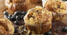 Gluten-Free Blueberry Muffins with Cream Cheese Filling - Kimberton Whole Foods Blueberry Streusel Muffins, Blue Berry Muffins, High Fiber Breakfast, Gluten Free Blueberry, Boston, Healthy Cat Treats, Cream Cheese Filling, Banana Recipes, Grandma's Recipes