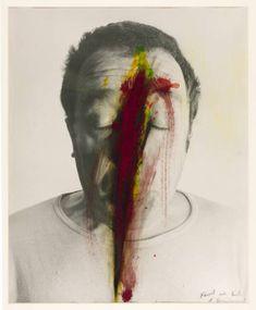 Untitled (Face Farce) - Arnulf Rainer - Neo-Expressionism, Self Portrait, 1971 Paint Photography, Dream Photography, Fine Art Photography, Portrait Photography, Arnulf Rainer, Neo Expressionism, Identity Art, Conceptual Art, Face Art