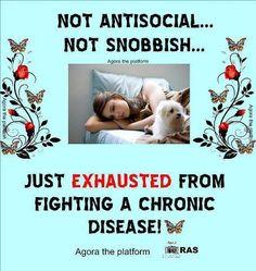 Living with a chronic disease like Fibro. Fibromyalgia and Chronic Illness awareness Fatigue Causes, Chronic Fatigue Syndrome, Chronic Illness, Chronic Pain, Fibromyalgia Pain, Thyroid Disease, Autoimmune Disease, Crohn's Disease, Tips