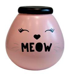 POT OF DREAMS MEOW CAT TREAT FUND MONEY BOX / PIGGY BANK / SAVING / COINS #Xpressions4U