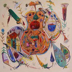 Fabulosul, stare de agregare a materiei vizuale | Revista Casa Lux | Ştefan Pelmuş Rooster, Painting, Animals, Animales, Animaux, Painting Art, Paintings, Animal, Animais