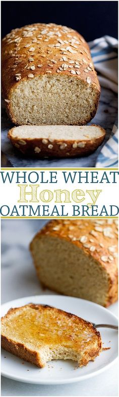 Whole Wheat Honey Oatmeal Bread - Check out the step-by-step pictures and learn how to make this bread. NO REFINED SUGARS and so easy to make at home!