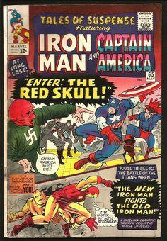 TALES OF SUSPENSE #65 Iron Man Capt. America Jack Kirby Fine- Red Skull Avengers