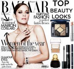 """Best Beauty of 2012: Marion Cotillard"" by elem-mayara ❤ liked on Polyvore"