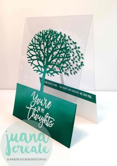 handmade card from Juan Ambida Independent Stampin' Up!® Demonstrator Australia: Thoughtful Branches tree die cut on a clear acetate card ... luv the graphic artistry ...