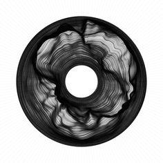 Welcome to zenbullets Circle Art, Circle Design, Perlin Noise, Code Art, Generative Art, Glitch Art, Black And White Drawing, Psychedelic Art, Grafik Design