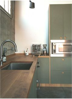 Inspiration: Long Beach in California, USA #skandinavischeKche #kitchen #Kche #scandinaviankitchengreen