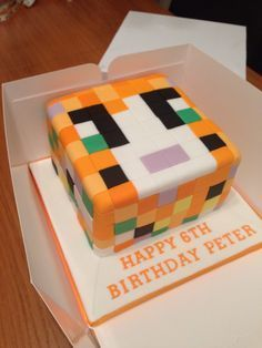 Stampy cat cake - Google Search
