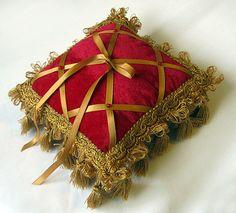 Velvet Ring Bearer Pillow for your Romantic Renaissance or Medieval Wedding. $120.00, via Etsy.