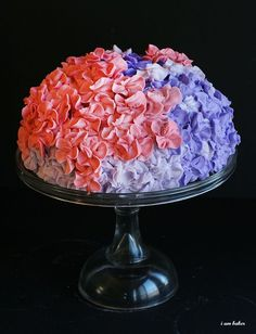 Hydrangea Cake - I think it would be pretty in different shades of same color