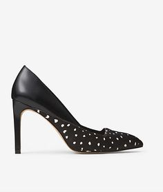 Pointed Pumps in Deer Dot Calf hair