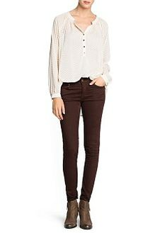 MANGO - NEW - Herringbone texture flowy blouse