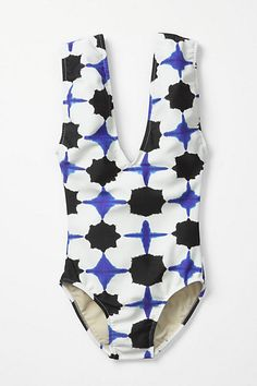 Watered Kaleidoscope Maillot #anthropologie. it's like wearing a really cool top...