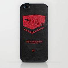 Metal Gear Solid Typography iPhone Skin