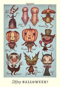 Happy Halloween! VLADIMIR stankovic, art, illustration,