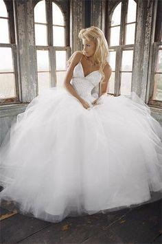 #Ball #gown #wedding #dress ♥ For an easy-to-follow 'Wedding Veil Guide' ... https://itunes.apple.com/us/app/the-gold-wedding-planner/id498112599?ls=1=8 ♥ For more wedding inspiration ... http://pinterest.com/groomsandbrides/boards/ & magical wedding ideas.