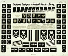 US Navy Uniform Insignia Poster, 1942. Love the lettering on that headline. The closest typeface I have found thus far is Hannes von Döhren's Brandon Grotesque.