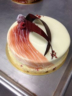 White chocolate raspberry entremet #nlc #normanloveconfections #pastry