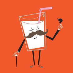 Milk mustache, artist unknown