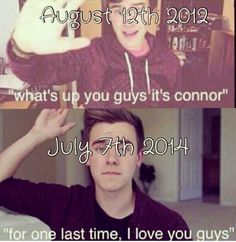 Thank you Connor for making my Mondays better. I am going to miss you so much on O2L but at least you will be happy. On the bright side you will still be posting on your main channel. #wesupportyouconnor#weloveyouconnor