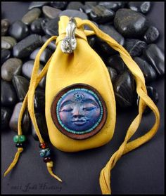 """""""Eagle Tribe"""" deerskin medicine bag I made. My work is available on my website www.beadworx.com"""