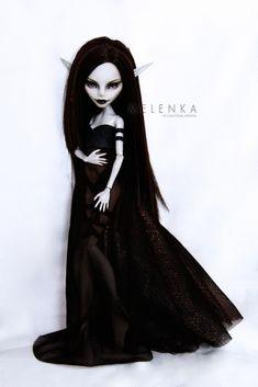 #Melenka #repaint #gulia #monster #High #elf #darkelf #custom #doll #ooak #lineage #la2 #monsterhigh