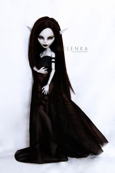 #Melenka #repaint #gulia #monster #High #elf #darkelf #custom #doll #ooak #lineage #la2 #monsterhigh