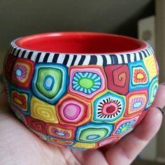 Colorful Succulents, Colorful Plants, Unique Plants, Indoor Plant Pots, Indoor Planters, Potted Plants, Painted Flower Pots, Painted Pots, Pottery Painting Designs