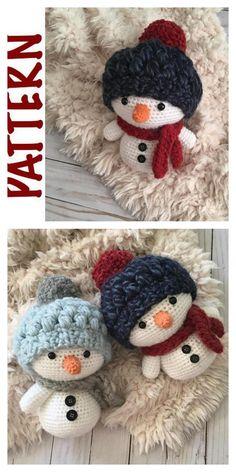 Crochet Snowman, Crochet Christmas Ornaments, Crochet Fall, Christmas Crochet Patterns, Holiday Crochet, Crochet Crafts, Crochet Toys, Crochet Projects, Crochet Leaf Patterns