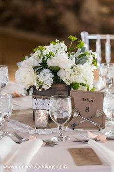 burlap and lace vintage wedding centerpiece